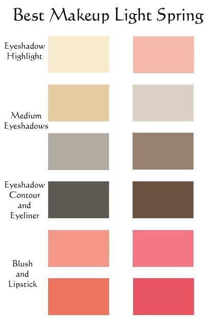 Light Spring makeup colours