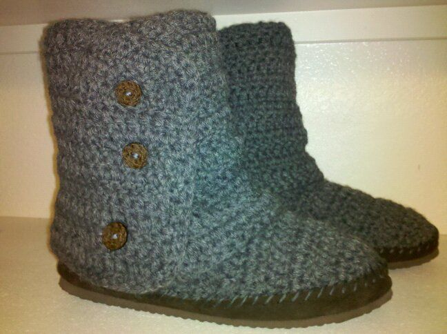 Free Crochet Pattern Ugg Boots : free crochet boot patterns for adults Posted by ...