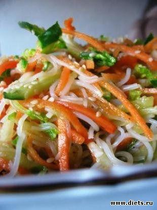 Китайская кухня рецепты. салат лан цай