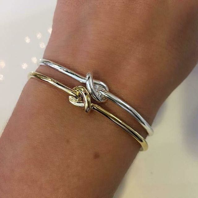 Give it to your bestie with a note telling her you would 'knot' be who you are without her in your life. | Stella&Dot Knot Cuff