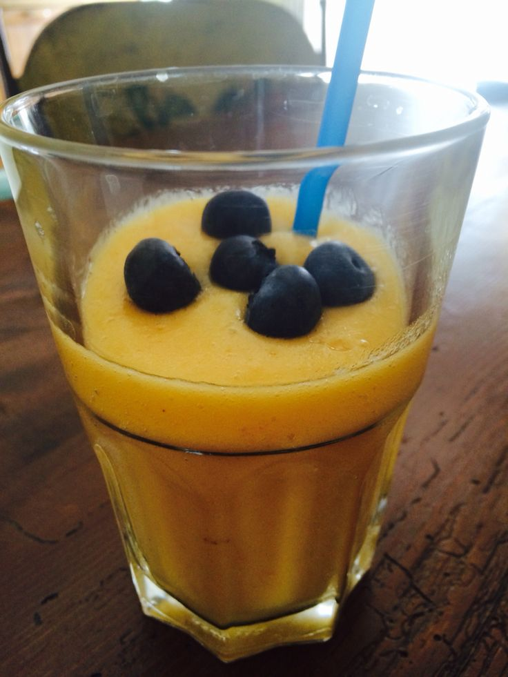 #smoothie #blueberries with ananas and melon