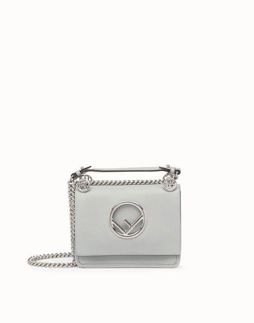 3d7bf30f3905 FENDI KAN I F SMALL - Gray leather mini-bag - view 1 small thumbnail ...