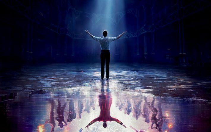 Télécharger fonds d'écran Le Plus grand Showman de la, En 2017, de la comédie musicale Américaine, d'affiches, de Hugh Jackman