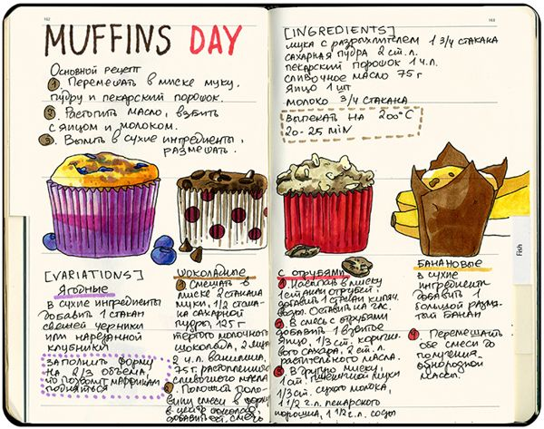 Love it. A great way to keep your favourite recipes and hopefully pass them on one day. Art Recipe Journal by Sally Mao, via Behance