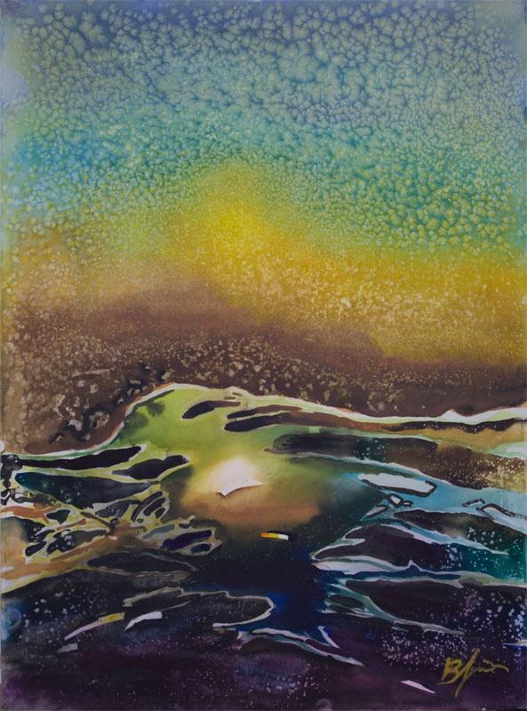 'Sea Ocean' by Benjaminas. Medium: Watercolour. Fine Art Supplier - Drai Fine Art.