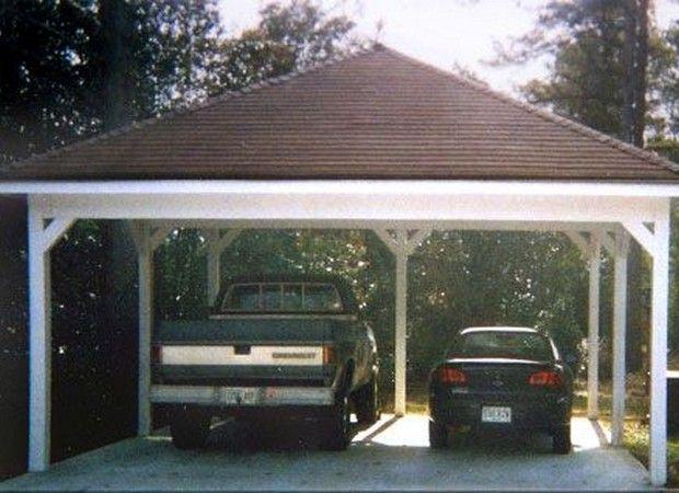 45 best garage pergola and gazebo ideas images on pinterest for Simple carport plans