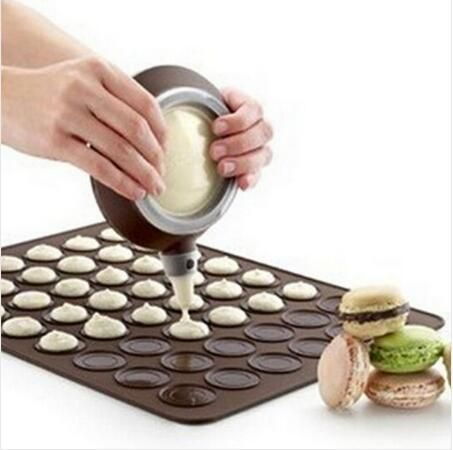 Practical 30-cavity Silicone Pastry Cake Macaron shape mould Oven Baking pastry Mould Sheet Mat Free Shipping