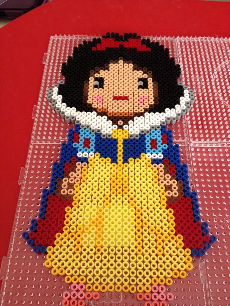 Snow White perler bead sprite by Scarlett