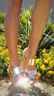 leather anatomic shoes 12cm bronze color