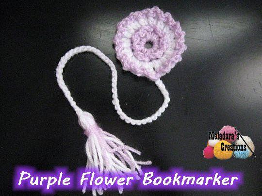 Purple Flower Book Marker 600 WM