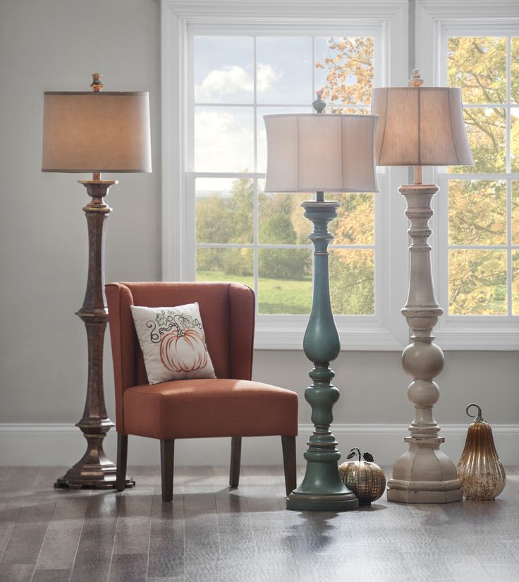 It's time to ditch the cheap and simplistic floor lamps you've had for years and invest in sturdy, decorative lamps instead! Add bold color to your room or complement your neutrals with a soft color. Either way, you will add light and style to any room in your home!