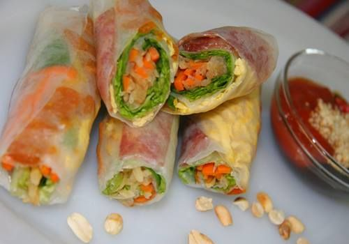 Yesterday, my mother made one of stunning Vietnamese Salad recipes for my family. It was Jicama Fresh Rolls (Bo Bia). It also has another name is Vietnamese Jicama, Carrot, Black Sauce, Egg and Dried Shrimp Rolls.This dish is absolutely delicious when using with black sauce which you can buy at any Vietnamese  super market.  Get this recipe at www.vietnamesefood.com.vn/vietnamese-recipes/vietnamese-salad-recipes/jicama-fresh-rolls-recipe-bo-bia.html