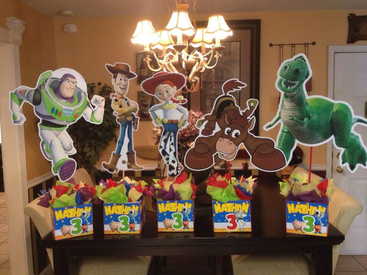 Large Toy Story Centerpieces Double Sided Personalized by JuliousScissor on Etsy https://www.etsy.com/listing/237997919/large-toy-story-centerpieces-double
