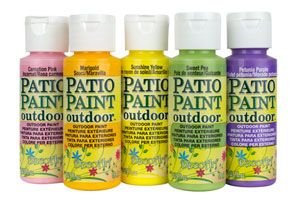 DecoArt Patio Paint... I'm thinking of painting some terra cotta pots and heard this is long lasting paint. Some reviewers at Michaels.com said they've had it on outdoor items and it still looks great after a decade.