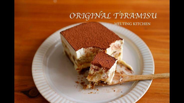 중탕, 젤라틴 없이 오리지널 티라미수 케이크 만들기 Simple recipe original tiramisu cake - YouTube