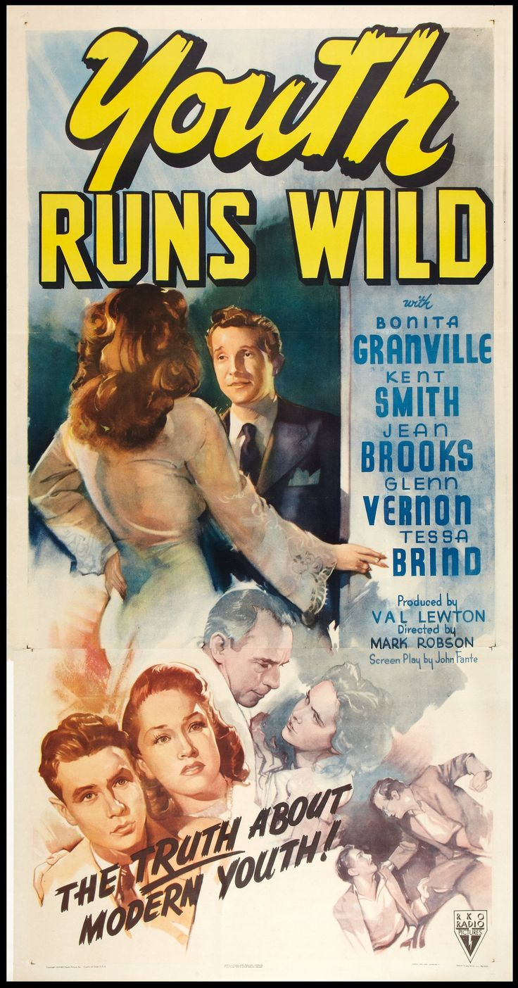 Youth Runs Wild (1944) Stars Bonita Granville, Kent Smith