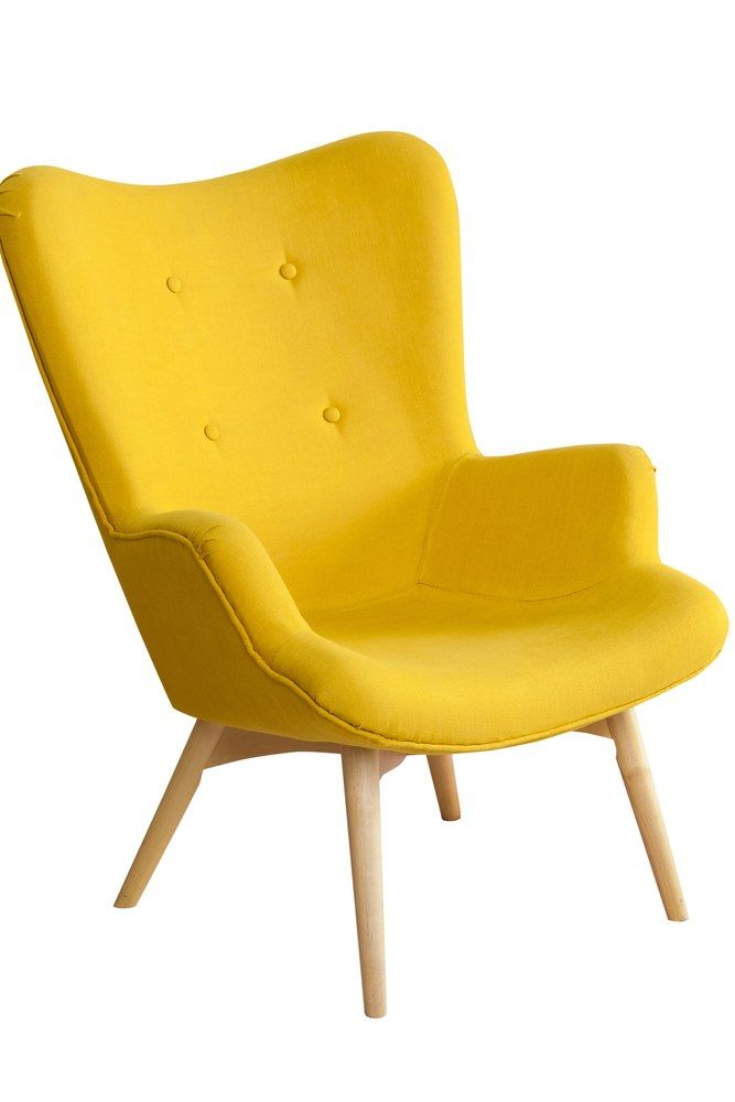 Yellow Modern Chair Isolated On White Background Furnituredesign