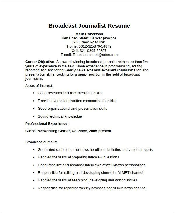 Resume Templates Journalism 1 Templates Example Templates Example Di 2020