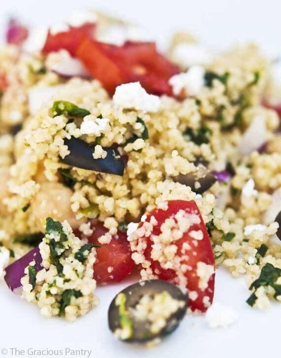 Clean Eating Greek Couscous Salad ~ http://www.thegraciouspantry.com