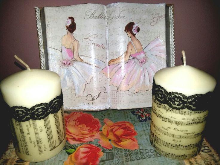 Candles and ballerina book