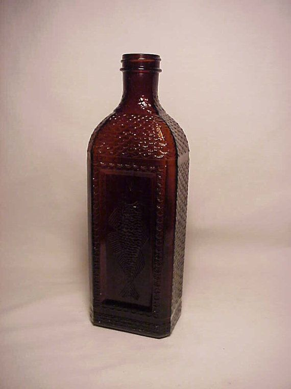 c1930s McKesson Robbins Cod Liver Oil Fish by Bottlessoldcheap