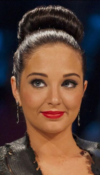 Celebrity Of The Week – Tulisa Hairstyles | Bun Hairstyle | Click on Photo to know how to achieve this hairstyle ..