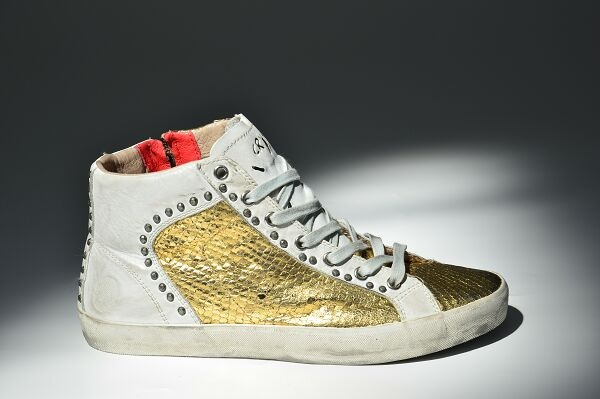#Crime #Fashion - #Shoes #sneakers #gold #metallic #borchie #ss13 #newarrivals #musthave   www.crime-fashion.com