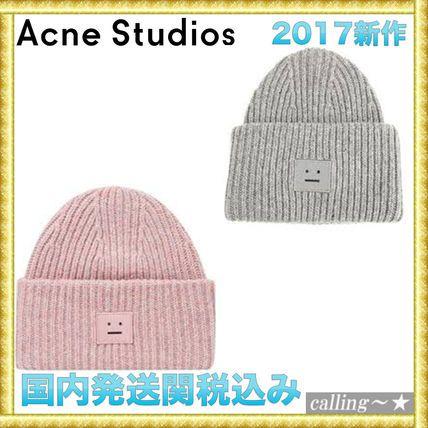 セレブ愛用者多数☆Acne Studios☆Pansy W Face Ribbed Hat
