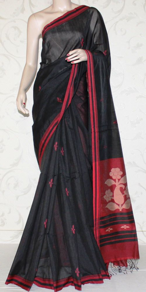 Viscose Cotton Handloom Saree ( www.maanacreation.com