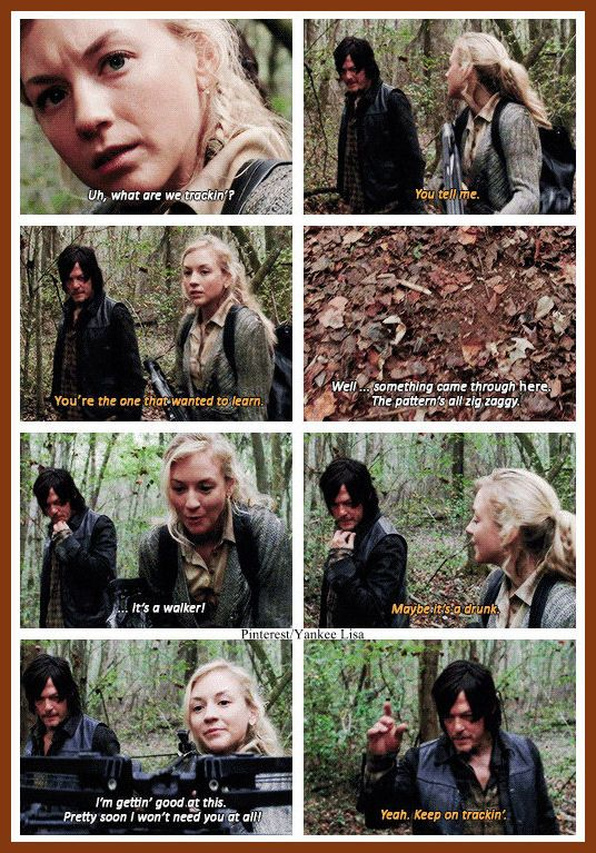 Daryl Dixon - Norman Reedus and Beth Greene - Emily Kinney - AMC's The Walking Dead