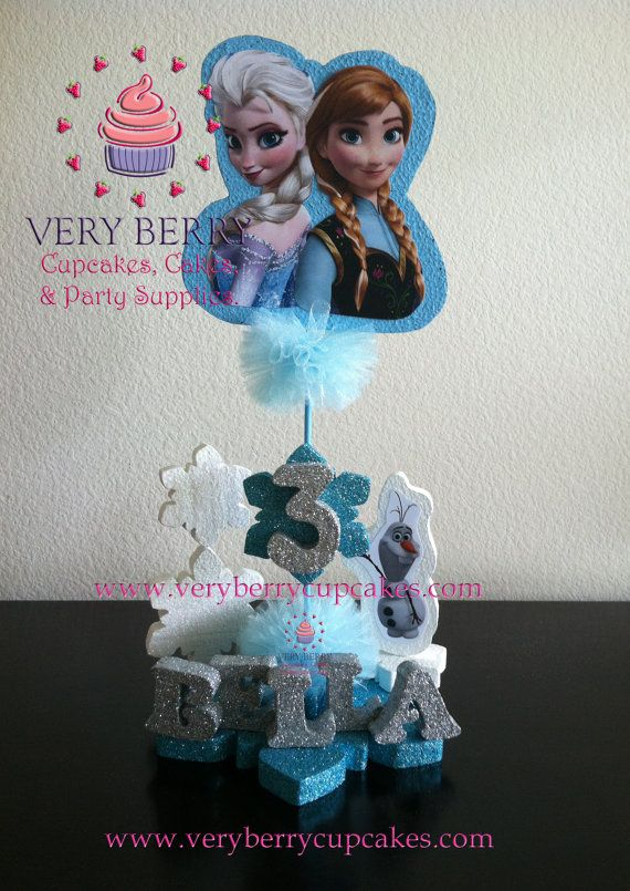 Frozen Centerpiece/ Elsa and Anna Centerpiece by VeryberryParty, $28.00