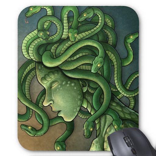 Medusa, gorgon of Greek legend, sheds a tear for the loss of her humanity.