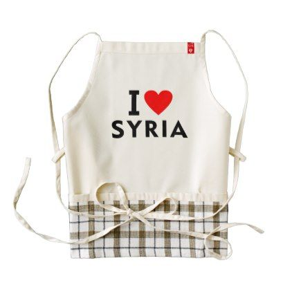 #I love Syria country like heart travel tourism Zazzle HEART Apron - #country gifts style diy gift ideas