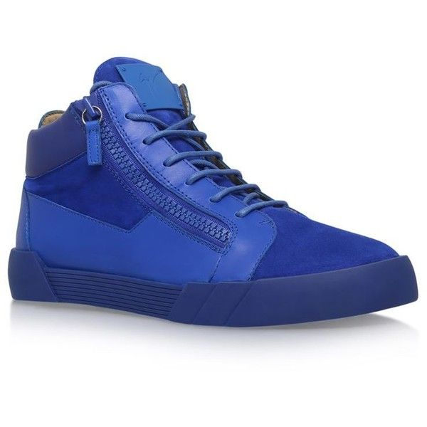 Giuseppe Zanotti Shark Mix Mid-Top Sneaker ($630) ❤ liked on Polyvore featuring men's fashion, men's shoes, men's sneakers and giuseppe zanotti mens sneakers