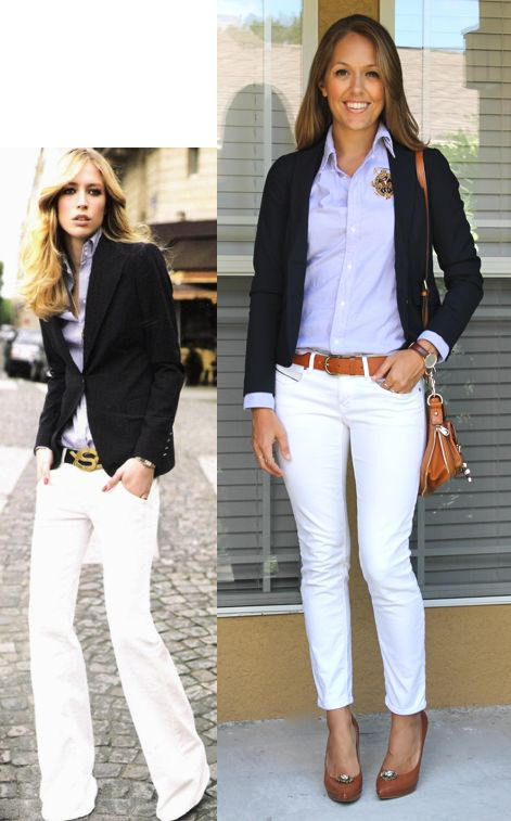10 Rules For Wearing White After Labor Day. By Amy Bailey — September 07, Tweet. White Blazer – A white blazer in a moderate weight fabric has a longer wear life during the year than other white pieces because it can act as an accessory for an outfit. Throw it on with jeans or over a jumpsuit as we go into fall and if it is made.
