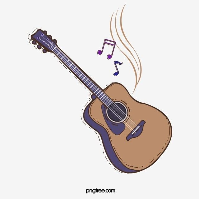 Cartoon Guitar Musical Instruments Sheet Music Cartoon Style Png And Vector With Transparent Background For Free Download Guitar Vector Small Inspirational Tattoos Guitar Clipart