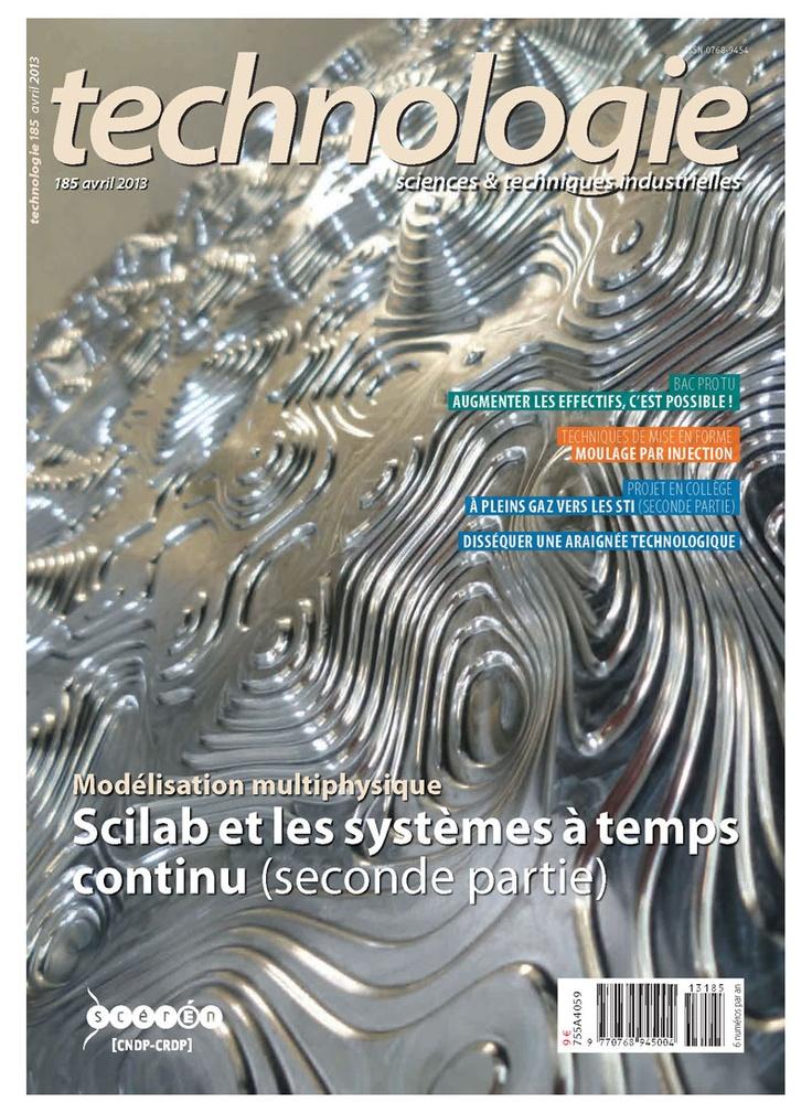 Technologie n°185 -  Avril 2013 /    Au sommaire : Bac pro TU - Augmenter les effectifs, c'est possible !