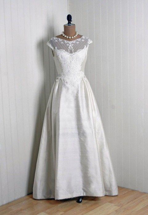 1960s Priscilla of Boston wedding gown.
