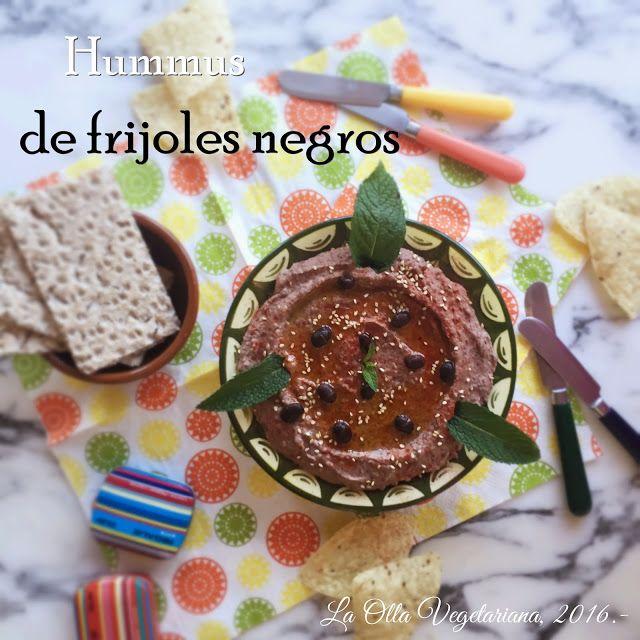 La Olla Vegetariana: Hummus de frijoles negros.-