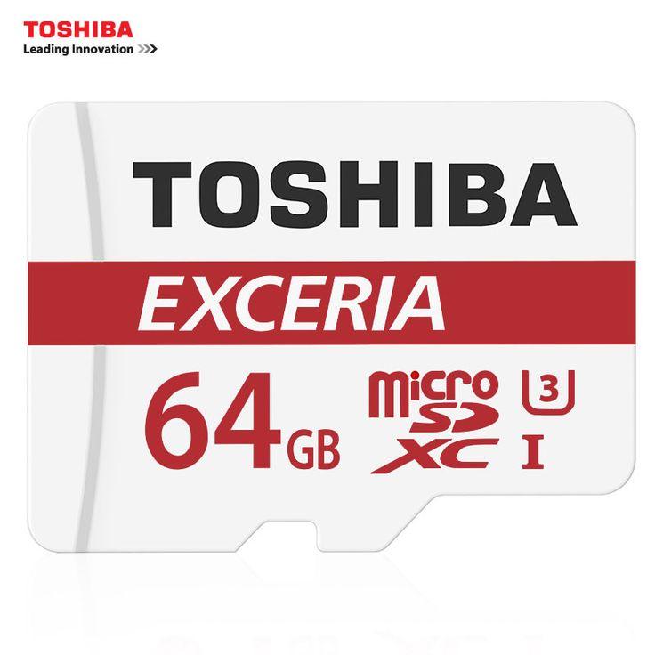 100% Original TOSHIBA Micro SD Card 64GB MicroSD SDXC Class 10 Max Read Speed 90M/S TF 64GB Memory Card