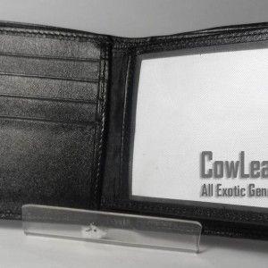 Dompet Kulit Pria Kulit Ikan Pari Hitam Polos Batu Besar | CowLeat.com ~ All Exotic Genuine Leather