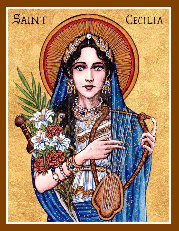 St. Cecilia icon by Theophilia.deviantart.com on @deviantART