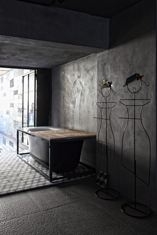 Loft in Athens, design, minimal, industrial, bathroom, esestudio architects