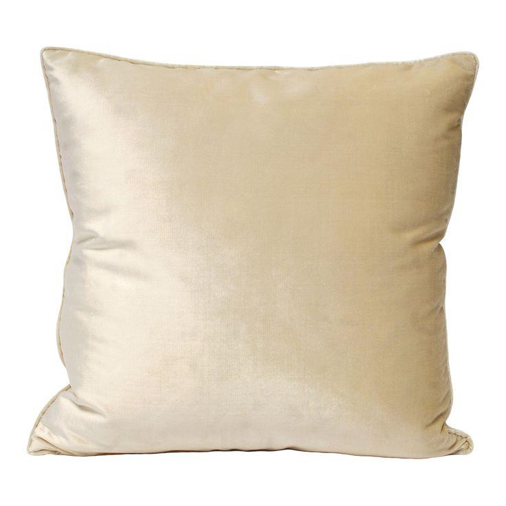 Luxe Velvet 55x55cm Cushion, Ivory | achica