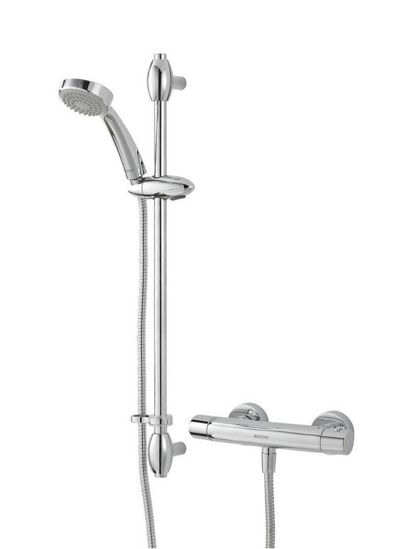 Bristan Oval Exposed Shower Valve with Riser Kit Chrome