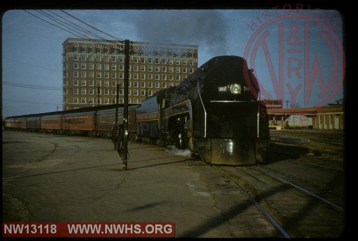 Norfolk & Western Class J 611 on passenger train at Norfolk union station