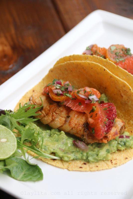 Grilled fish tacos with citrus habanero salsa