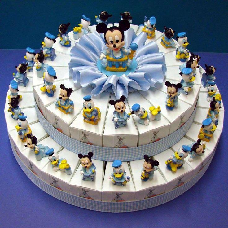 """Torta Bomboniera con Mickey Mouse e Donald Duck Disney. Torte Bomboniere realizzate da """"Ore Liete - La Bomboniera Italiana"""""""