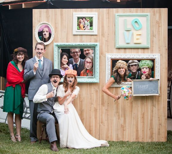 Photo booth wall - photo themed party