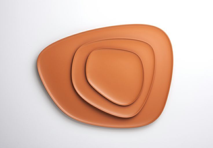 "Kartell ""Namaste"" melamine plates (natural orange color)"